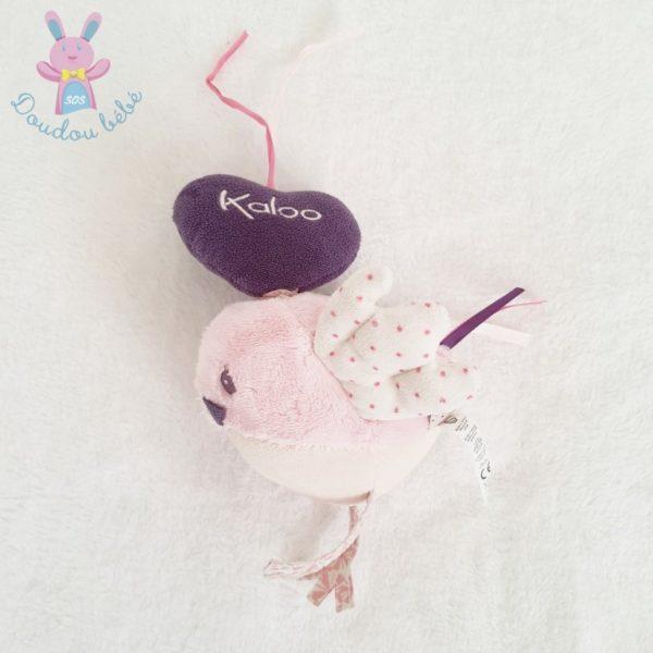 Doudou Oiseau Petite Rose musical KALOO