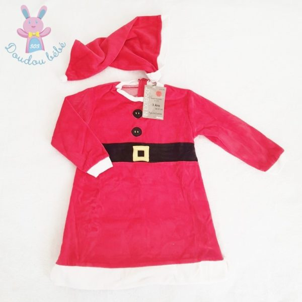 Robe de Noël rouge fille 3 ANS