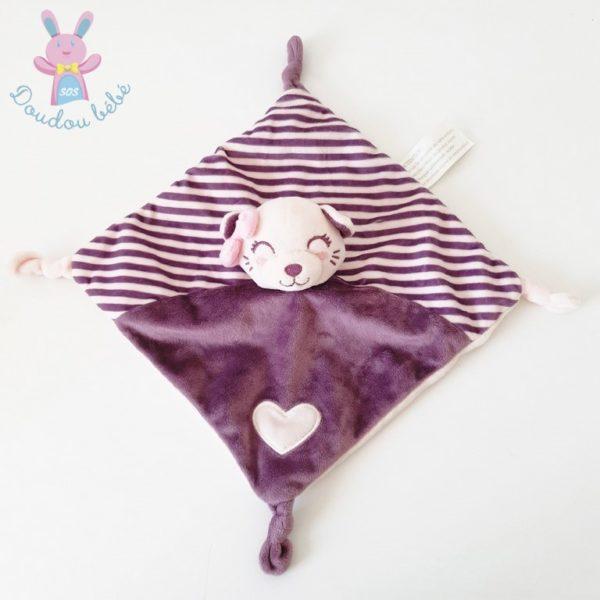 Doudou plat Chat violet KIMBALOO