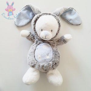 Doudou Ours Lapin gris bleu luminescent MOTS D'ENFANTS