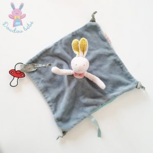 Doudou plat Lapin bleu Mademoiselle et Ribambelle MOULIN ROTY