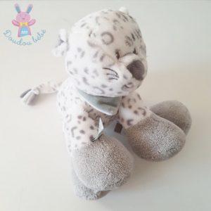 Doudou Léopard des neiges Léa gris blanc NATTOU
