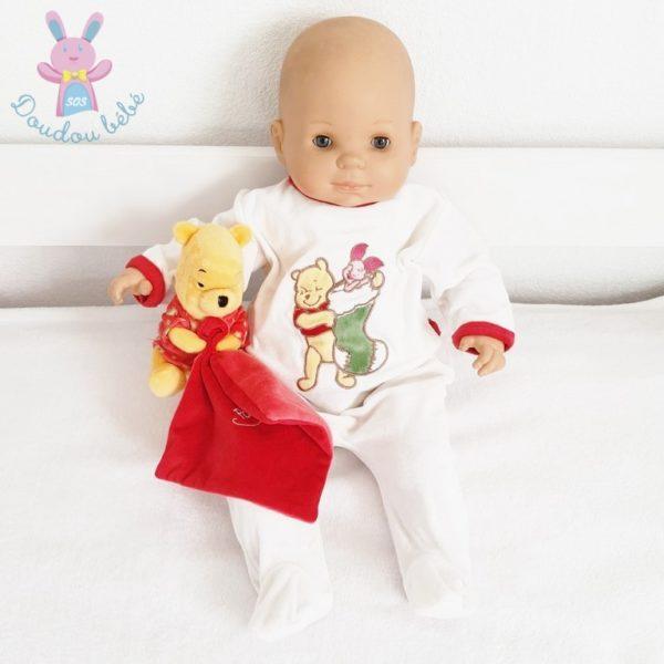 Pyjama velours Winnie Noël bébé 3 MOIS DISNEY