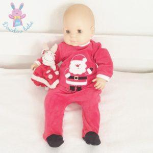 Pyjama Père Noël rouge et blanc bébé 3 MOIS