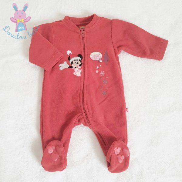 Surpyjama rouge Minnie Noêl bébé fille 3 MOIS DISNEY
