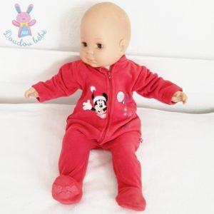 Surpyjama polaire de Noël rouge Minnie bébé fille 3 MOIS DISNEY