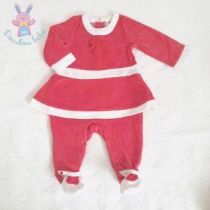Pyjama tenue de Noël rouge blanc bébé fille 3 MOIS ORCHESTRA
