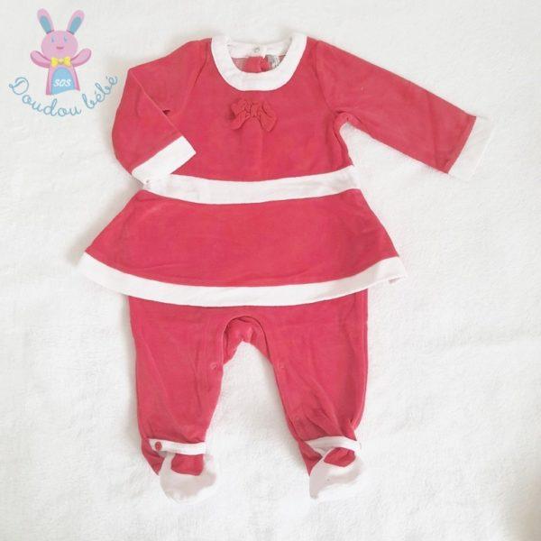 Pyjama de Noël rouge bébé fille 3 MOIS ORCHESTRA