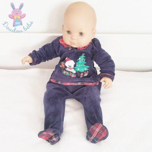 Pyjama de Noël marine bébé 6 MOIS SERGENT MAJOR