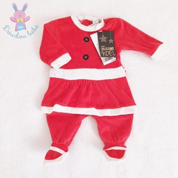 Pyjama robe de Noël rouge bébé fille 1 MOIS