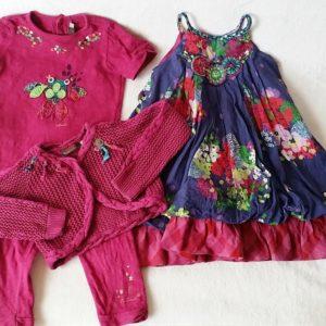 Ensemble Robe + T-shirt + Legging + Gilet fille 3 ANS CATIMINI