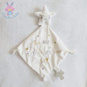 Doudou étoile mouchoir blanc Good night PAT & RIPATON