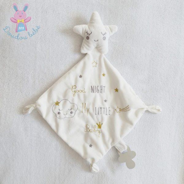 Doudou étoile mouchoir blanc PAT & RIPATON