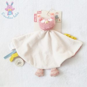 Doudou plat Chouette rose Mademoiselle et Ribambelle MOULIN ROTY