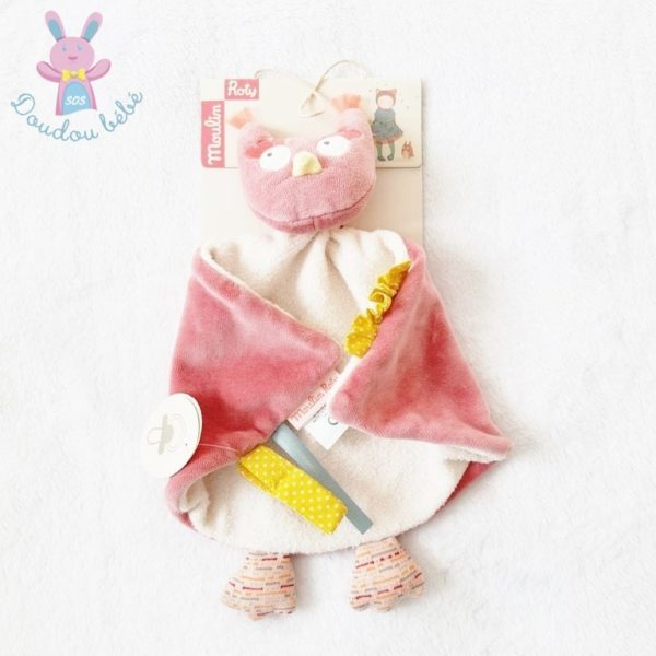 Doudou plat Chouette Mademoiselle et Ribambelle MOULIN ROTY