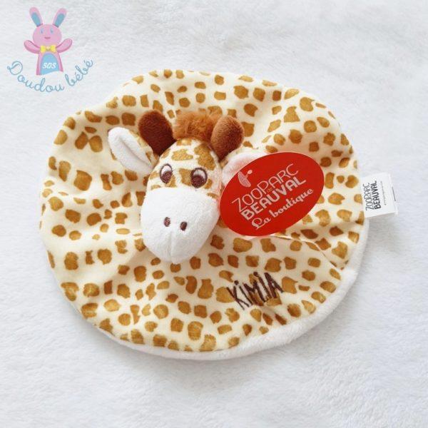 Doudou plat Girafe ZOO DE BEAUVAL