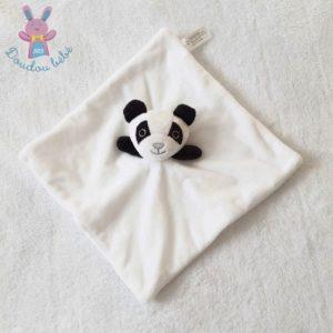 Doudou plat Panda blanc noir gris CLOROPHYL EDITIONS