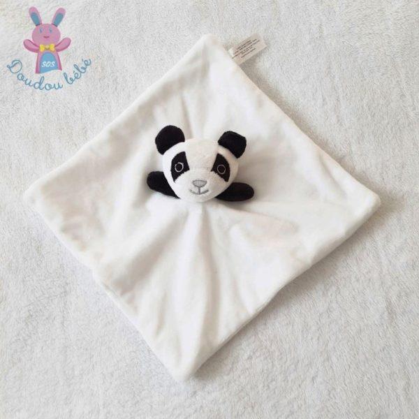 Doudou plat Panda blanc noir CLOROPHYL EDITIONS
