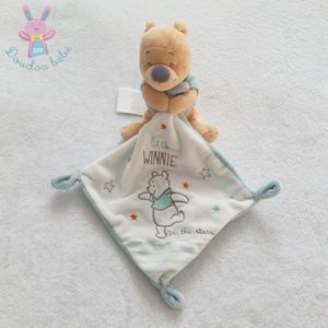 "Doudou ""Little Winnie in the stars"" mouchoir blanc bleu DISNEY SIMBA"