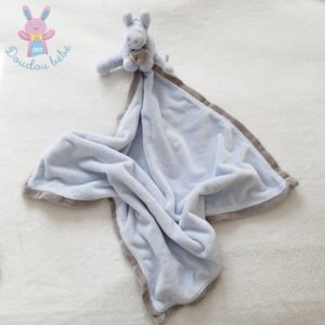 Doudou Ane Paco couverture bleu crème beige NOUKIE'S