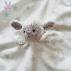 Doudou plat Mouton écru blanc gris étoiles PRIMARK