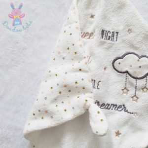 "Doudou étoile mouchoir plat blanc ""Sweet night little dreamer"" SIMBA"