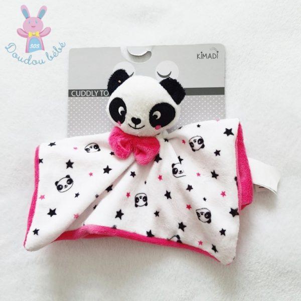 Doudou plat Panda étoiles KIMADI