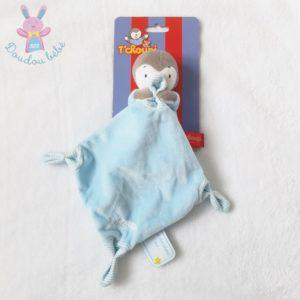 Doudou Tchoupi bleu gris mouchoir bleu et rayé NICOTOY SIMBA