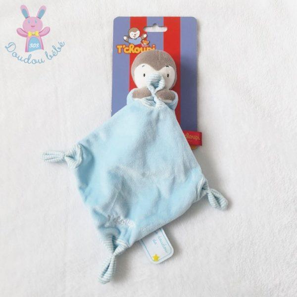 Doudou Tchoupi mouchoir bleu gris NICOTOY