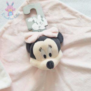 Doudou plat Minnie rose blanc noir à pois DISNEY by PRIMARK