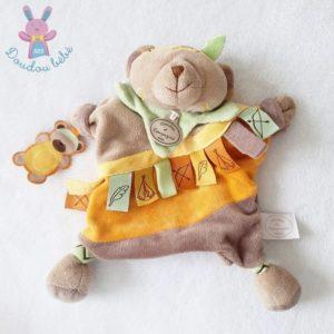 Ours marionnette indien étiquettes marron DOUDOU ET COMPAGNIE