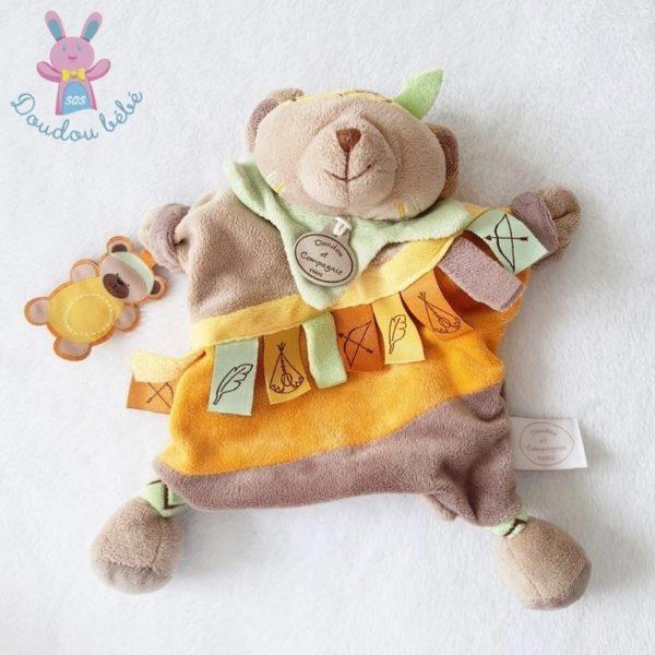 Doudou marionnette Ours étiquettes DOUDOU ET COMPAGNIE