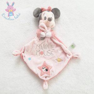 Doudou plat Minnie mouse rose étoiles planète DISNEY