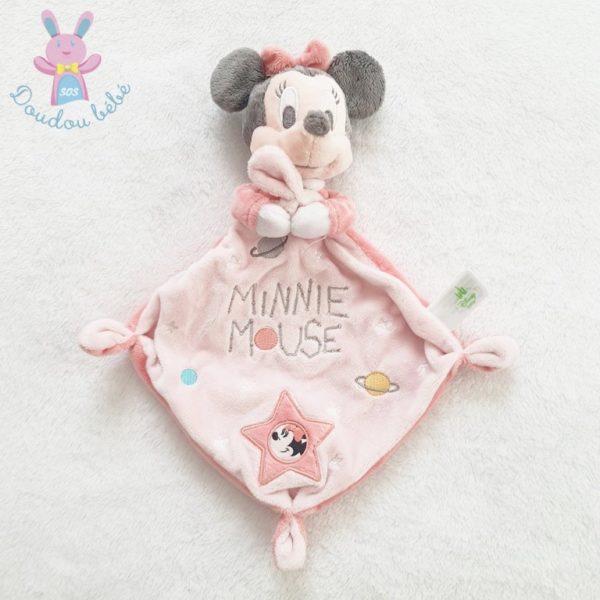 Doudou plat Minnie Mouse rose DISNEY