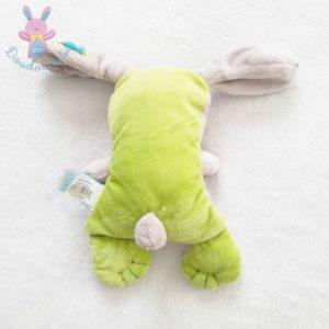 Doudou Chien vert beige croix 20 cm BABY NAT