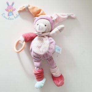 Doudou Chat Nina mauve rose jouet d'éveil BABY NAT