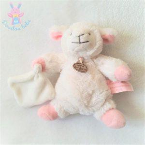 Mouton Agneau blanc rose mouchoir Mon tout petit DOUDOU ET COMPAGNIE
