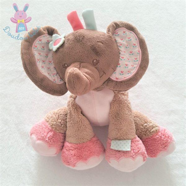 Doudou éléphant Charlotte et Rose NATTOU