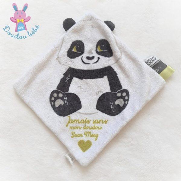 Doudou plat Panda blanc noir ZOO PARC DE BEAUVAL