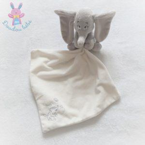 Doudou éléphant Dumbo gris mouchoir blanc DISNEY STORE