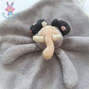 Doudou plat éléphant Les Zazous gris beige MOULIN ROTY