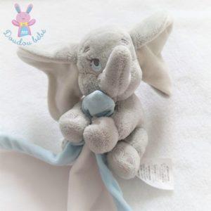 Doudou éléphant Dumbo gris mouchoir blanc bleu DISNEY STORE