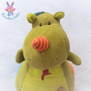 Doudou musical Dragon Walter vert jouet d'éveil LILLIPUTIENS