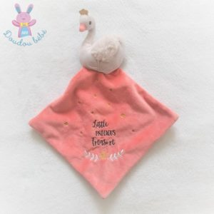 Doudou plat Cygne rose étoiles Little precious Treasure TEX