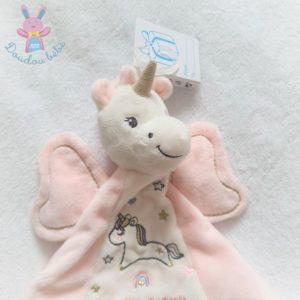 Doudou plat Licorne rose blanc étoiles «You are magical» SIMBA