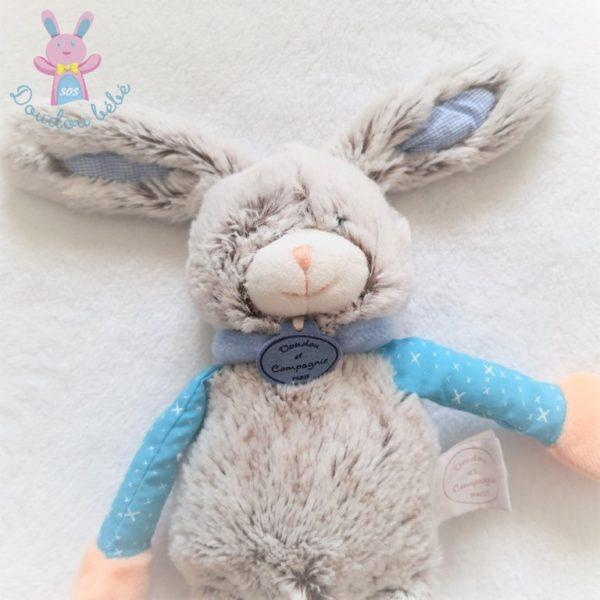 Lapin Les Choupidoux gris bleu 30 cm DOUDOU ET COMPAGNIE