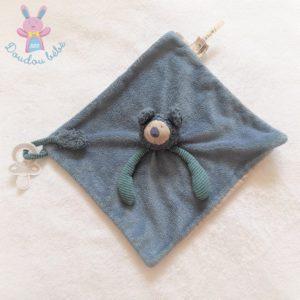 Doudou plat Koala Baba Les Zazous bleu attache tétine MOULIN ROTY