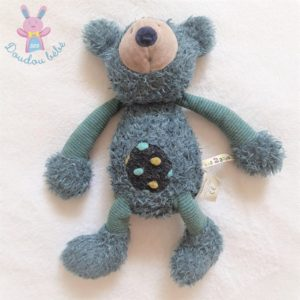 Doudou Koala Baba bleu et rayé Les Zazous MOULIN ROTY
