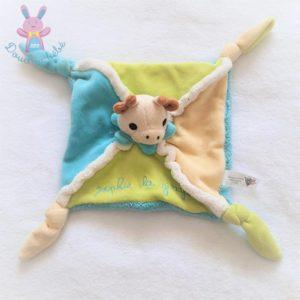 Doudou plat Sophie la girafe bleu vert beige VULLI