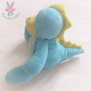 Doudou Dragon Dinosaure bleu vert JOGYSTAR KIABI